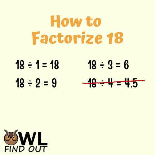 How to factorise 18
