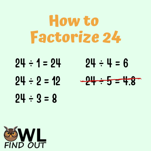 How to factorise 24